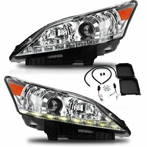 Customized Clear Led Headlights With Drl Dual Beam For 2010 2012 Lexus Es350