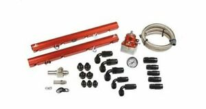 Aeromotive 14102 Fuel Rail Billet Aluminum Red Anodized Ford Mustang 5 0l Kit