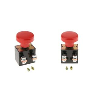2x Car Boat Battery Isolator Disconnect Shut Off Switch Button 250a 12v