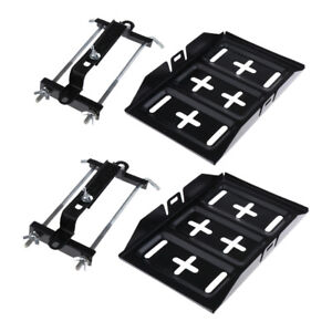 2x Universal Car Storage Battery Holder Stabilizer Tray Hold Down Clamp