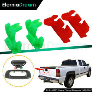 2pairs Tailgate Handle Latch Rod Clips For 1999 2007 Gmc Sierra Chevy Silverado