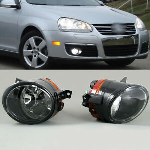 Pair Front Bumper Convex Lens Fog Light Lamp For Vw Golf Gti Jetta Mk5 Tiguan