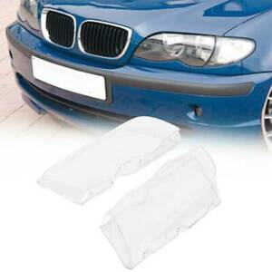 Samger 2x Headlight Lens Cover Replacement For Bmw E46 320i 325i 4 Door 98 01