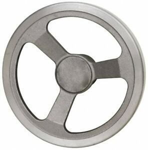 Jergens 8 3 Spoke Offset Handwheel 2 Hub Aluminum Alloy Plain Finish