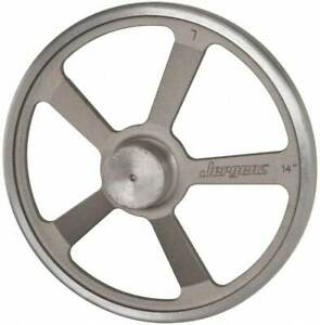 Jergens 14 5 Spoke Offset Handwheel 2 3 4 Hub Aluminum Alloy Plain Finish