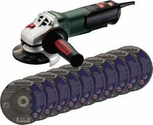 Metabo 4 1 2 Wheel Diam 10 500 Rpm Corded Angle Disc Grinder 5 8 11 Spin
