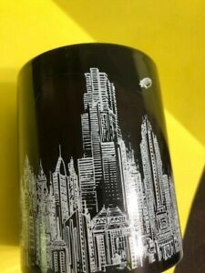 BATMAN coffee Mug BLACK  with LOGO  cityscape ZAK! DESIGNS&DC COMICS