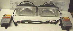 2 Hella Xenon Hid Work Lights Fog Driving Security Lamps Snowplow Cat Bulldozer