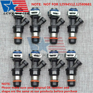 8x Fuel Injector For Delphi 01 07 Gm Chevy Gmc Truck 4 8l 5 3l 6 0l 25317628