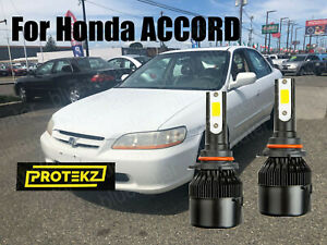Led Accord 1998 2002 Headlight Kit 9006 Hb4 6000k White Cree Bulbs Low Beam