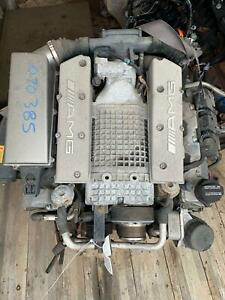 2003 Mercedes Benz C32 Engine Amg Supercharged 107k Hole In Oil Pan See Pics