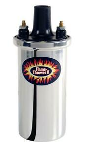 Pertronix 45001 Chrome Ignition Coil Flame thrower Ii Canister Round Oil Filled
