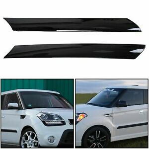 For 2010 2013 Kia Soul Left Right Side Exterior Molding Windshield Pillar Trim