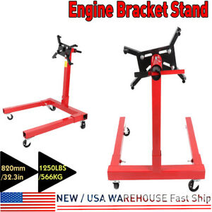 Foldable Engine Stand 1250lbs Capacity 360 Degree Engine Overturn Stand Aluminum
