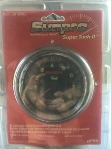 Sunpro 3 3 8 Inch Sun Super Tach Ii Black Chrome Bezel New Cp7901 0 8000 Rpm