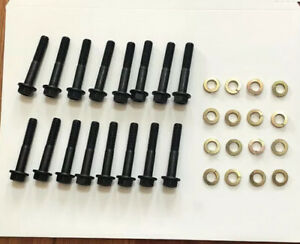 Bbc Exhaust Manifold Bolt Kit Stock Style Exhaust Grade 8 Bolts 396 427 454 32pc