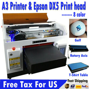 Achi Dx5 8 Color Uv Printer For Flat Cylindrical Printed Uv Ink software 3d