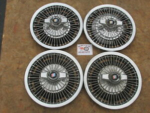 1963 67 Buick Special 14 Wire Spinner Wheel Covers Hubcaps Set Of 4