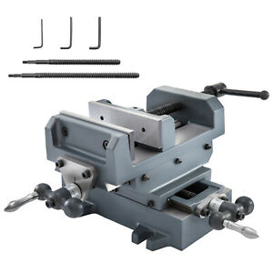 5 1 8 Compound Cross Slide Industrial Strength Drill Press Vise 2 Way Benchtop