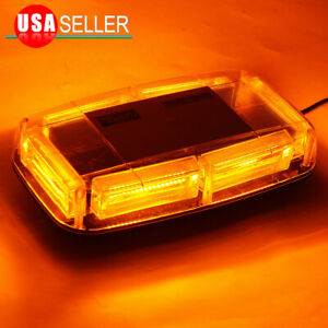 Cob Led Amber Yellow Roof Top Warning Strobe Emergency Hazard Light Burst Series