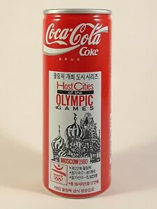 Coca Cola Coke Can Korea, 1992 Olympic Posters, Hosts of Olympics Moscow, 250ml