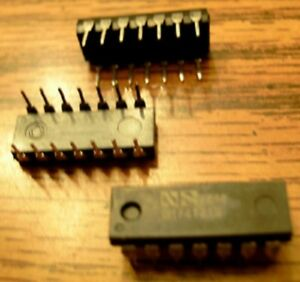 Lot Of 26 National Semiconductor Dm74121n Free Shipping