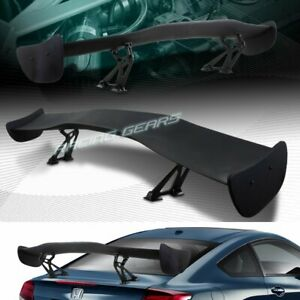 Universal 57 Wing Dragon 1 Style Black Abs Gt Trunk Adjustable Spoiler Wing