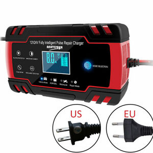 12v 24v Portable Smart Battery Charger Box Power Bank For Car Truck Motorcycle