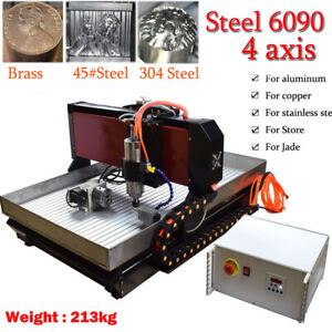 Cnc 6090 4axis 2 2kw Engraving Machine Steel Metal Milling Router For Metal Us