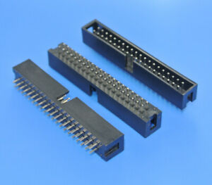 2x20pin Shrouded Box Headers 0 100 Connector 2 54mm Pitch X50pcs