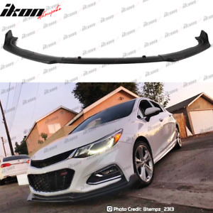 Fits 16 19 Chevy Cruze Rs Oe Style Front Bumper Lip 3pc Unpainted Polypropylene