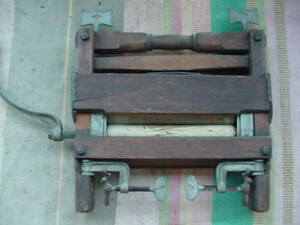 Vintage Antique Wringer Wooden Roller Washing Machine Top Parts Or Decor