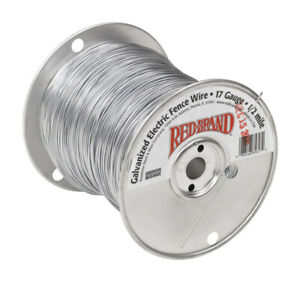 Red Brand Electric Electric Fence Wire 1 2 Silver gray