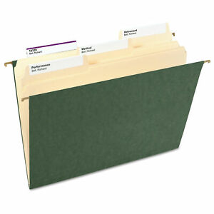 Smead Hanging File Folders Untabbed 11 Point Stock Letter Green 25 box Bx