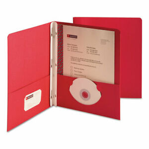 Smead Paper Two pocket Portfolio Tang Clip Letter 1 2 In Capacity Red 25 b