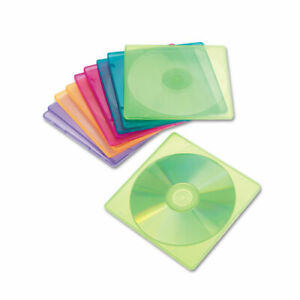 Innovera Slim Cd Case Assorted Colors 10 pack