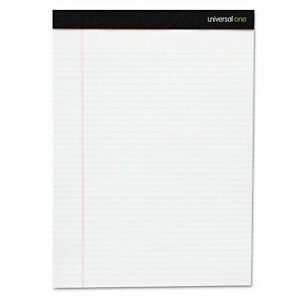 Universal Perforated Edge Ruled Writing Pads Legal 6 pack White Pk Unv5630