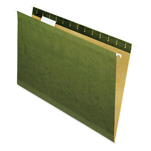 Universal Reinforced 100 Recycled Hanging Folder 1 5 Cut Legal Standard Gree