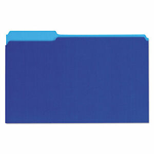 Universal Interior File Folders 1 3 cut Tabs Legal Size Blue 100 box