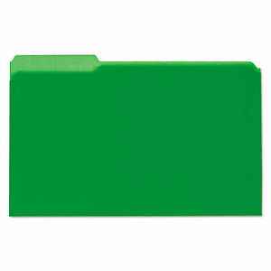 Universal Interior File Folders 1 3 cut Tabs Legal Size Green 100 box