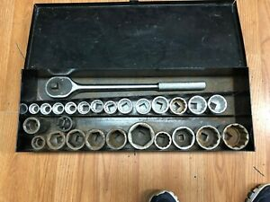 Blackhawk By Proto 3 4 Drive Socket Set With Ratchet And Many Extras Proto