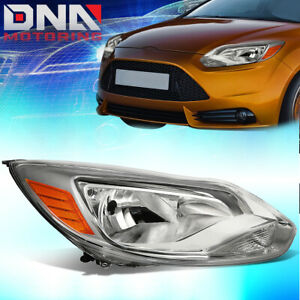 For 2012 2014 Ford Focus Passenger Right Factory Style Headlight Lamp Chrome