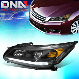 For 2013 2015 Honda Accord Left Factory Style Led Drl Projector Headlight Lamp