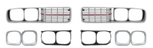 1973 74 Dodge Charger Se Grill Set With Chrome Grill Bars