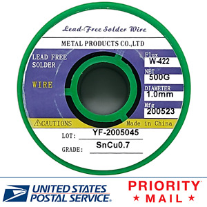 Solder Wire Lead Free Sn99 3 Cu0 7 1 0mm Rosin Core For Electronic 500g 1 1lb