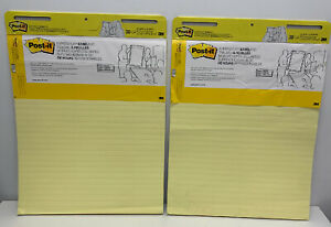 Post it Super Sticky Easel Pad 25 X 30 Inches 30 Sheets pad 2 Pads 561 Yellow