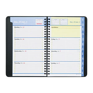 at a glance Quicknotes Weekly monthly Appointment Book 4 7 8 X 8 Black Ea