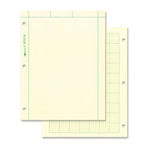 National Brand Computation Pad Plain 5x5 Quad On Back 8 5x11 Green 100 Sheets
