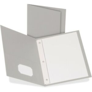 Oxford Twin pocket Folders With 3 Fasteners Letter 1 2 Capacity Gray 25 box