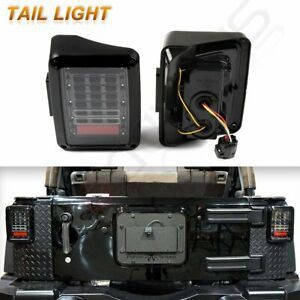 2x Led Rear Tail Light Brake Turn Signal Reverse For 2007 2017 Jeep Wrangler Jk